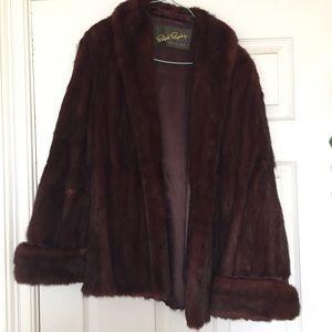 Vintage winter fur coat jacket
